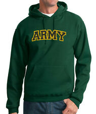 USA Army Logo Letters Military Embroidered 50/50 Pullover Hoodie