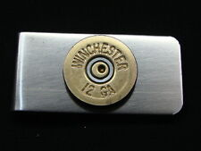 MONEY CLIPS BULLET STYLE SHOTGUN -  MANY CALIBERS BRASS & NICKEL