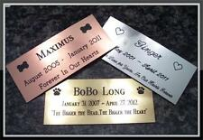 Custom Engraved Personalized Pet Grave Dog Cat Marker Brass Silver Copper to 21""