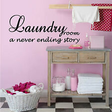 LAUNDRY NEVER ENDING STORY WA285 Wall Art Sticker Decal Mural Vinyl 5 Sizes