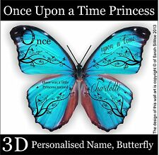 Personalised Name, 3D Butterfly Wall Stickers, Wall Decors, Wall Art  Decals