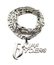 "NEW RUFF RYDER HIP HOP PENDANT & 5mm/24"" FIGARO CHAIN NECKLACE - MSP336"