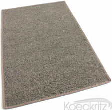 Brown Indoor Outdoor Area Rug Non-Skid Marine Backing Carpet Many Sizes