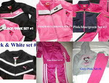* NWT NEW GIRLS PUMA TRACKSUIT Tricot PANTS WINTER OUTFIT SET 12M 18M 24M