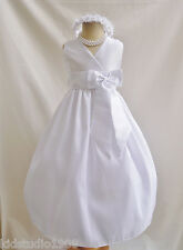 # VN NEW WHITE EASTER WEDDING PARTY FLOWER GIRL DRESS 1 2 4 6 8 10 12 14