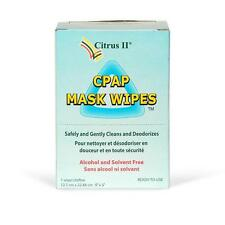 Citrus II CPAP Mask Cleaner Wipes Individually Wrapped (12 Wipes/ Box)