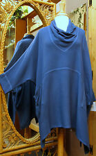 Dairi Moroccan Sousdi Cowl Neck  Cotton/Rayon Blouse 2 Pockets Fits Med. to 3X