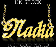 NADIA NAME NECKLACE 18k Gold Plated Fashion Designer Jewelry Gift Asian/Arabic