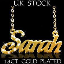 SARAH NAME NECKLACE 18k Gold Plated Personalised Fashion Jewelry Designer Gifts