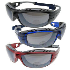 Mens Padded Motorcycle Riding Sunglasses with Elastic Strap