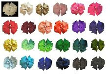 Solid Pinwheel Boutique Hair Bow (24 Colors Available)
