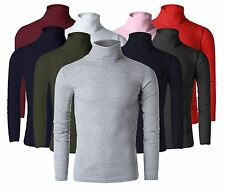 korea_top mens turtleneck sweaters shirt Cotton polo neck jumper UK S M L XL
