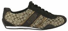COACH REMONNA SIGNATURE JACQUARD WOMENS KHAKI SNEAKERS Authentic New in Box