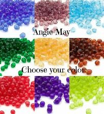 Clear or Rainbow AB Miyuki 4x3.4mm Fringe Glass Seed Beads Pick Color ~ 25 Grams