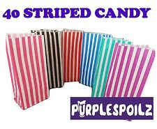 40 CANDY BAGS Buffet Lolly Bar Wedding Paper Stripe Striped Party Favor Mix Gift