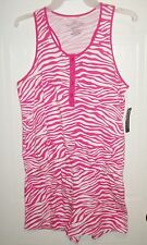 Faded Glory Preteen/Teen Pink & White Animal Print One Piece Romper NWT