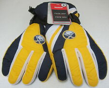 NHL Buffalo Sabres Multi-Color Winter Ski Type Gloves By Reebok
