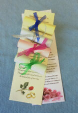 50 Personalised Wedding Favour Scrolls with organza on cream or white paper