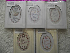 Wedding Day & 25th, 40th, 50th Anniversary Cards Cross Stitch Kits
