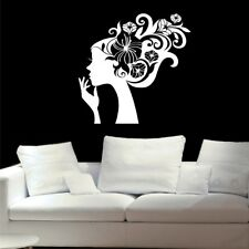 FLORAL SWIRL art decal rose home love living room bedroom flowers wall stickers