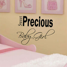 SWEET PRECIOUS BABY GIRL quote wall stickers kids bedroom wall decals