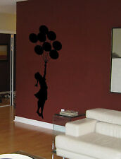 Banksy Style Floating Balloon With Girl Wall Art, Vinyl Decal Sticker,WA042