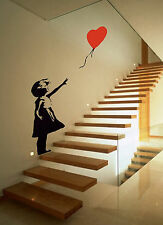 Banksy Style Girl with Balloon Wall Art,Iconic Image,Vinyl Sticker WA043