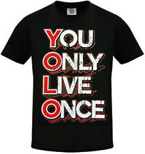 YOLO Shirt You Only Live Once Shirt Y.O.L.O Great Adult Black T-Shirt SM To 5XL