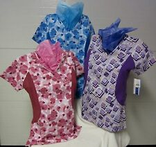 NWT Best Medical Wear Stretch Panel Nurses Scrub Tops Style 524