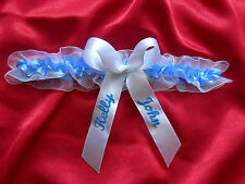 Wedding garter / bridal garter / PERSONALISED - 6 different colours!!!