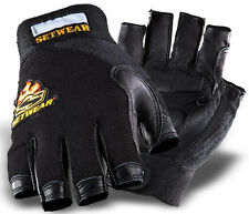 Setwear Leather Fingerless Gloves - Brand New