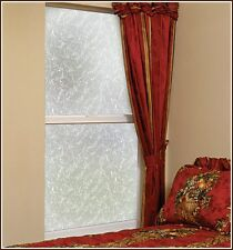 New Frosted AUSTIN Etched Glass Privacy Decorative Static Cling Window Door Film