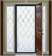 New ORLEANS Semi Privacy Etched Glass Decorative Static Cling Window & Door Film