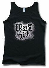 Bad Girl Womens Ladies Red / Black Ring-Spun Soft-Style Vest Sm-2XL