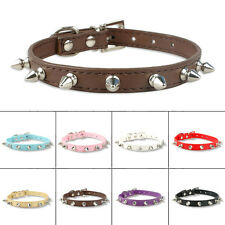 Spiked Studded PU Leather Puppy Pet Dog Collars Neck Protective Collar Cool