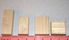 Wood Blocks for Mounting Rubber Stamp Dies Assorted Sizes U-Pick Factory Seconds