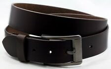 """Brown OILED PULL UP LEATHER Casual Belt 1-1/2"""" wide Removable Buckle BLSI-26"""