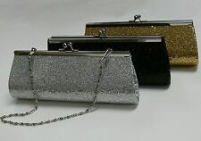 New Small Glamour Confetti Sequin Giltter Evening / Wedding Clutch Bag Handbag