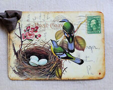 Hang Tags  BIRD NEST EGG  POSTCARD TAGS or MAGNET #443  Gift Tags