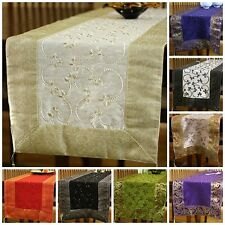 "Hand Embroidered Table Runner (72"" X 17"" and 120"" X 17"" Sizes)"
