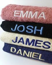 New Personalised Towel set embroidered with Weightlifter Motif and Name