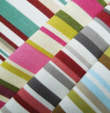 Upholstery Craft Curtain Goa Stripe Cotton Fabric Fire Retardant Material