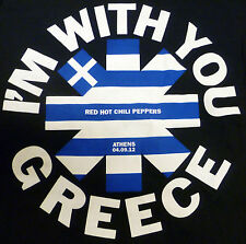 Red Hot Chili Peppers- Athens, Greece Black Concert T-Shirt w/ Flag Logo