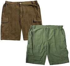 Hemp Cargo Shorts: Green, Dark Brown natural organic S M L XL XXL 34 36 38 42 44