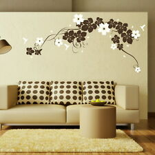 LARGE VINE Flower Wall Sticker / Large Interior Decor / Floral Wall Transfer