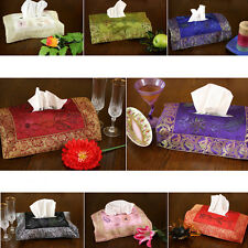 Hand Painted Deluxe Floral Tissue Box Cover
