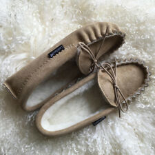 Lambland Premium Mens / Ladies Sheepskin Suede Moccasin Slippers with Suede Sole