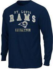 St Louis Rams NFL Team Apparel Name & Logo Long Sleeve Shirt Big & Tall Sizes
