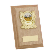 Multi sport wooden plaque award skiing, hockey, archery, rugby FREE Engraving