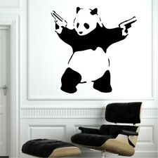 BANKSY PANDA ART BEDROOM LARGE WALL MURAL STICKER TRANSFER VINYL DECAL STENCIL